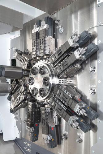 Bij de ontwikkeling van de MS24-6 meerspindelautomaat is rekening gehouden met seriegroottes die steeds kleiner worden. Het gevolg is dat de MS24-6 snel om te stellen is.