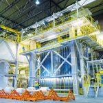 De productielijn voor Protact draait nu ruim een jaar in IJmuiden en heeft een capaciteit van meer dan 150.000 ton per jaar.