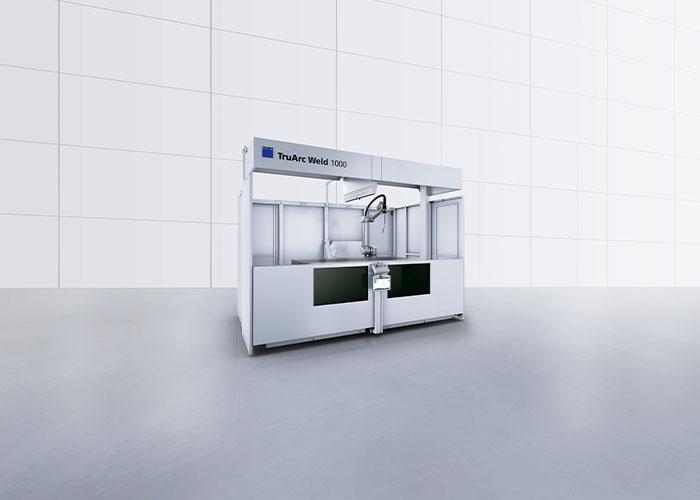 De TruArc Weld 1000 is een geautomatiseerd systeem voor lichtbooglassen, uitgerust met een cobot.