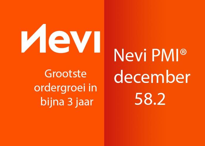 De Nevi PMI van december is uitgekomen op 58.2, de grootste verbetering van de bedrijfsomstandigheden sinds september 2018