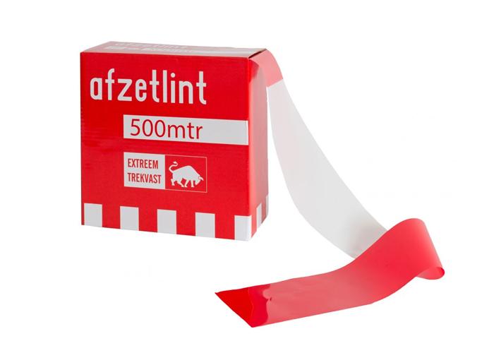Rood-wit afzetlint is het meest gebruikte markeringslint