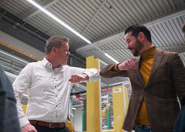 Niels van 't Hul van AWL en Jeff Hagelen van Wemo zien hun samenwerking helemaal zitten.