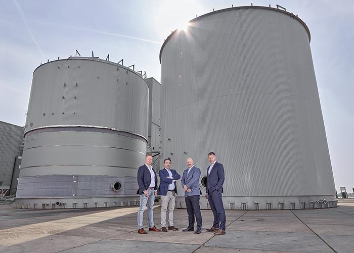 COO Arno Rodenburg, Sales Director Enzo Panella, Managing Director Geert Mulder en CEO Fred Boere.