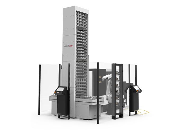 De Tower Advanced, een van de CNC-automatiseringsoplossingen van RoboJob.