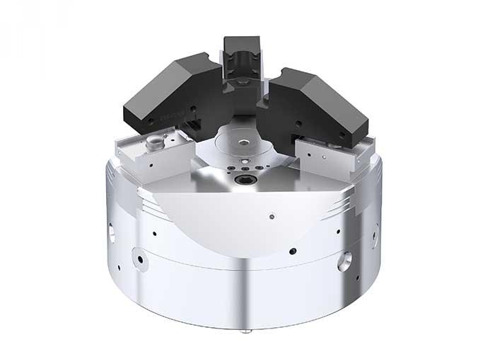 Met de Rapido snelwissel kunnen 3-bekken klauwplaten binnen 60 seconden opnieuw worden omgesteld.