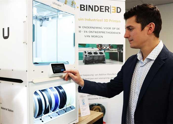 Binder 3D is een proeftuin die de toepassing van industrieel 3D printen bij maakbedrijven in Noord Nederland moet stimuleren.