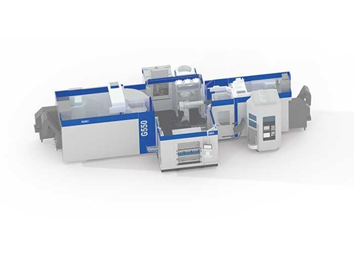 GROB brengt met de nieuwe GROB-robotcel (GRC) PSS-R light palletautomatisering oplossingen op de markt voor flexibele automatisering (foto: Grob)