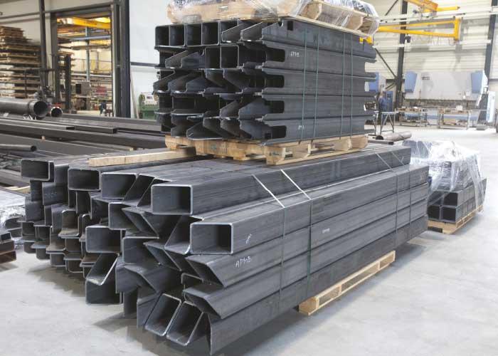Hoog nauwkeurig gesneden delen die optimaal geschikt zijn voor lasrobotisering en exact kunnen worden samengesteld op de bouwplaats.