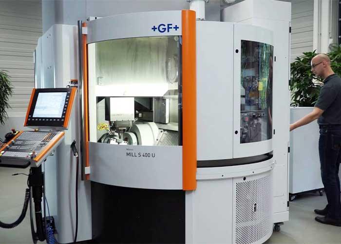 De vijfassige Mikron Mill S 400 U behoort tot het leveringsprogramma van GF Machining Solutions Benelux