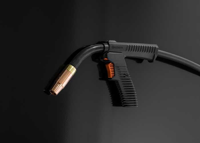 De Flexlite GC-pistolen zijn uitgerust met een flexibele coaxkabel en kunnen worden uitgebreid met een afneembare pistoolhandgreep.