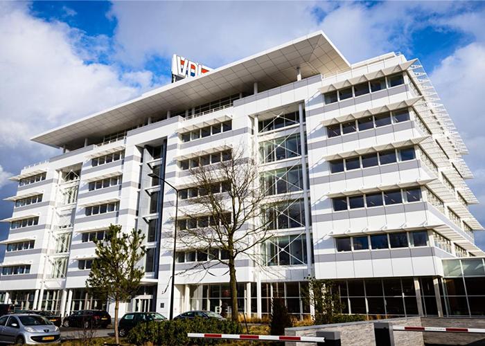Het hoofdkantoor van het industriële familiebedrijf VDL Groep in Eindhoven. Het coronajaar 2020 is ondanks een stevige daling van omzet en resultaat toch winstgevend afgesloten.