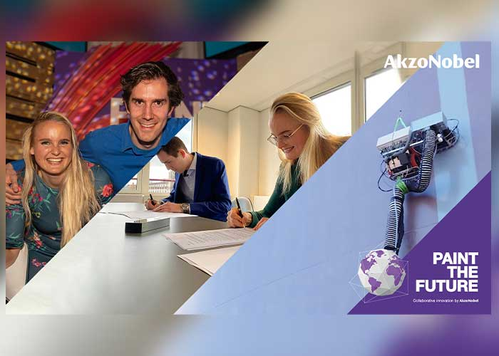 Qlayers CEO Josefien Groot en CTO Ruben Geutjens. Met een geautomatiseerd coatingproces was Qlayers een van de winaars van AkzoNobels Paint the Future startup-challenge in 2019. Nu heeft AkzoNobel een belang genomen in deze innovatieve start-up.