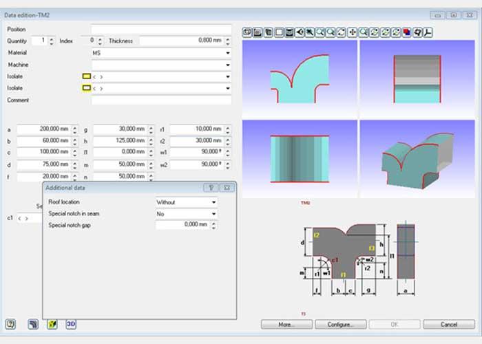 Lantek Expert Duct, een softwaremodule voor de berekening van HVAC- en DUCT-figuren.