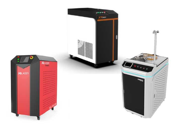 Handmatige laserlassystemen van JQ laser, XT Laser en G. Weike Laser.