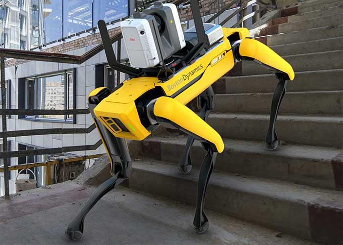 De Spot-robot van Boston Dynamics in combinatie met de Leica RTC360 3D-laserscanner is in staat om geautomatiseerd te scannen