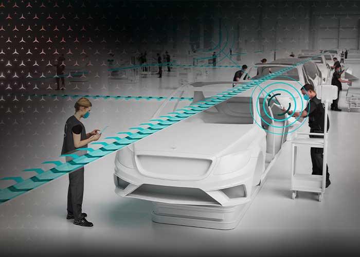 Siemens brengt zijn knowhow en technologieën in om samen met Mercedes-Benz een flexibele, efficiënte en duurzame autoproductie te ontwikkelen