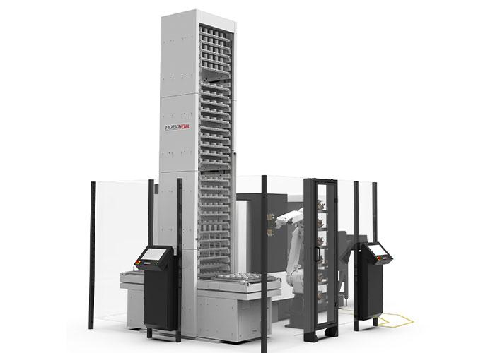 De Tower kan behalve voor productbelading ook worden ingezet om pallets te beladen en opspanmiddelen uit te wisselen.