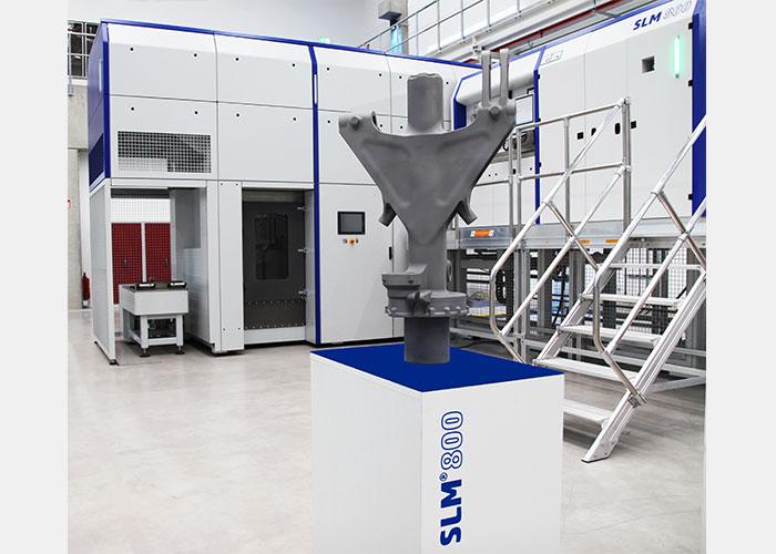 Het onderdeel van een neuslandingsgestel dat 3D-geprint is door Safran Landing Systems en SLM Solution.