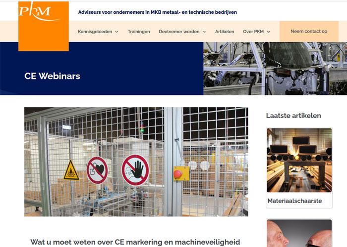 Op dinsdag 8 juni staat het webinar in het teken van de betekenis van CE Markering en wanneer men deze nodig heeft.