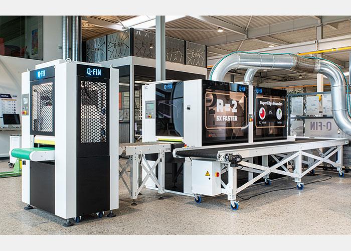 Met de Q-fin ontbraammachines kan zowel staal, RVS als aluminium bewerkt worden.