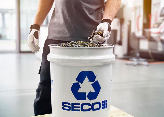 Recycling speelt een belangrijke rol bij het bereiken van het doel van Seco Tools om tegen 2030 90% circulair te zijn.