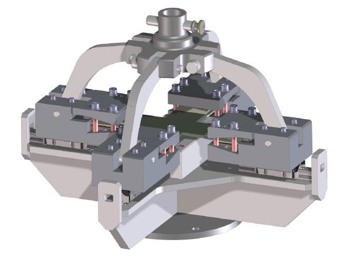 De Trektest Tooling heeft een maximale biaxiale trekkracht 100kN in alle richtingen, maximale slag 100mm.