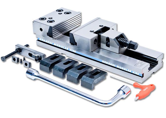 De modulaire klem waarmee Gerardi naam heeft gemaakt in de verspanende industrie.