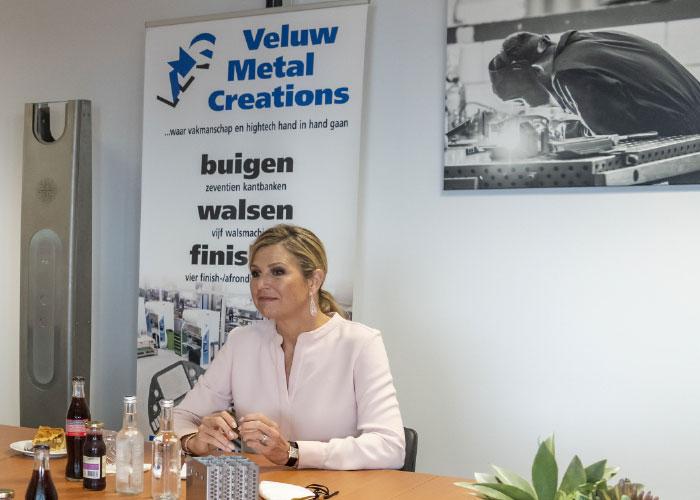Tijdens het rondetafelgesprek spraken enkele ondernemers met de koningin over actuele thema's in de metaalbewerking. (Foto: Joris Buijs)