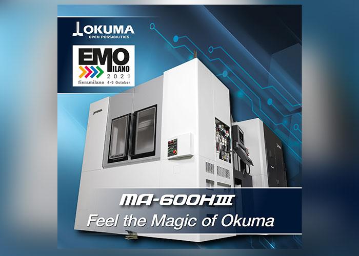 Okuma presenteert de nieuwe MA-600HIII als wereldprimeur op EMO Milano 2021