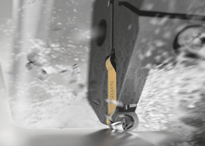 De S205 draaisoort van Sandvik Coromant is ontwikkeld voor de bewerking van hittebestendige superlegeringen (HRSA). (foto: Sandvik Coromant)