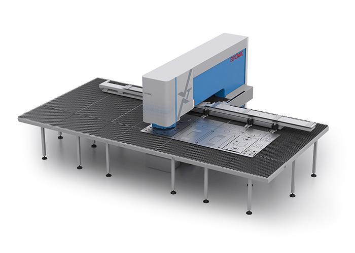 De Euromac XT ponsmachines zijn volledig configureerbaar naar een uitvoering met een hydraulische, elektrische of hybride aandrijving.