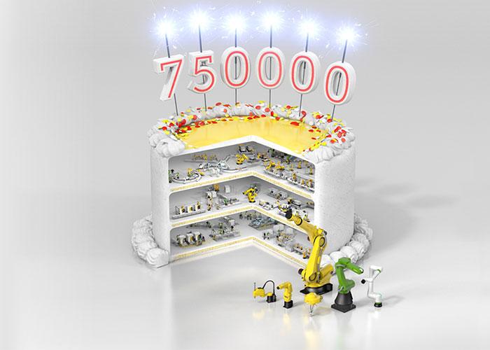 Fanuc heeft zijn 750.000ste industriële robot geproduceerd.