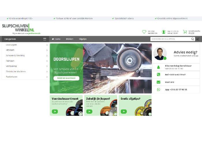De webshop slijpschijvenwinkel.nl is gespecialiseerd in slijpmaterialen en biedt naast een uitgebreid assortiment veel praktische informatie.
