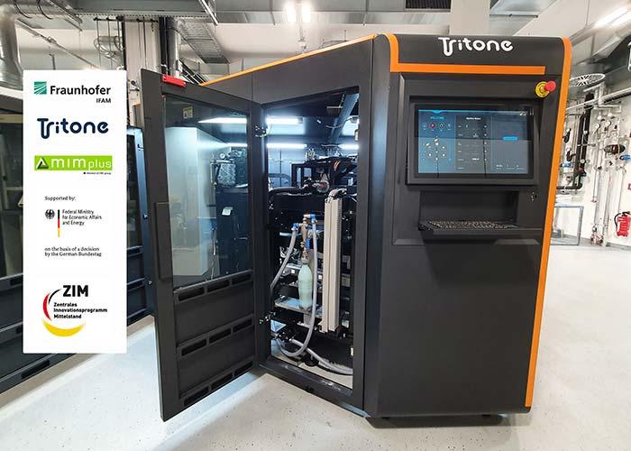 De Moldjet 3D-printer van Tritone Technologies bij Fraunhofer IFAM in Dresden. (foto: Fraunhofer IFAM Dresden)