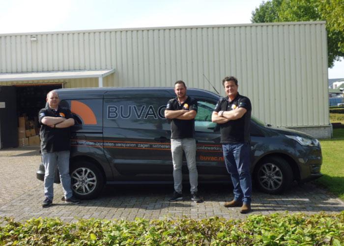 Het Buvac sales team. V.l.n.r. Niels Boselie, Bas van Dooren en Rinus Raaijmakers.
