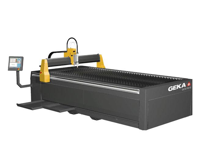 De CNC gestuurde plasmasnijmachine GCS-P 3015 van Geka is verkrijgbaar in verschillende maten en met de mogelijkheid van een eenvoudige roostertafel of sectionele rookafzuiging.