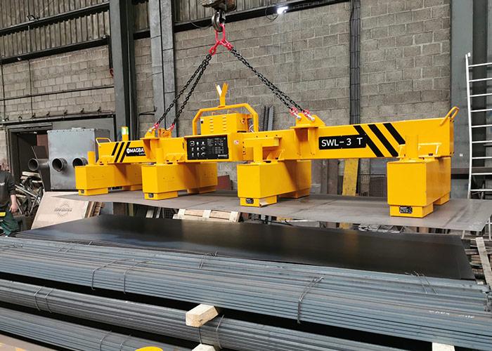 De nieuwste generatie elektro permanente hefmagneten uit de HBEPP-serie van Magbat-Europe maakt het heffen van dunne staalplaten eenvoudig en veilig.