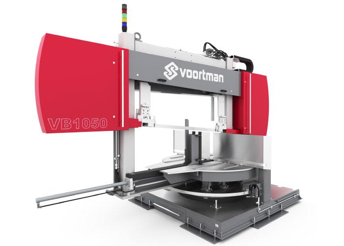 De nieuwe bandzaag voor de Voortman machines is breed inzetbaar en gaat meerdere opeenvolgende productieprocessen mee.