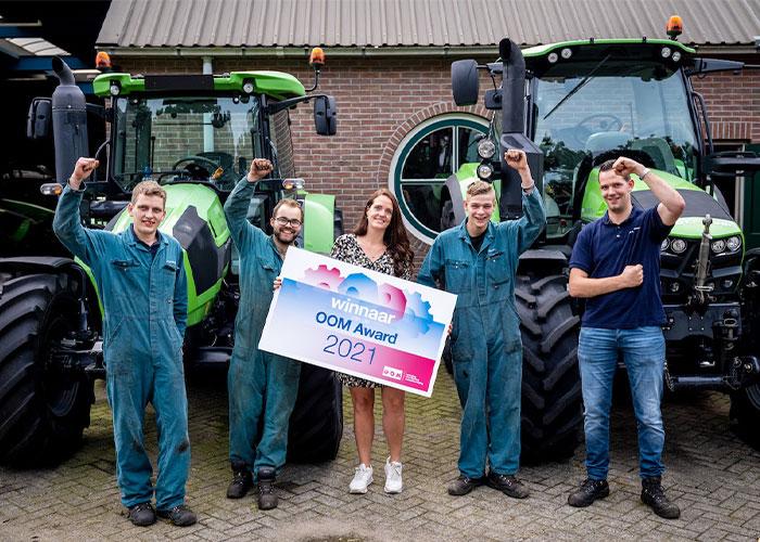 Landbouwmechanisatiebedrijf W.H. de Bruijn uit Lexmond heeft dit weekend de OOM Award 2021 voor de regio Midden-Nederland in de wacht gesleept. Foto: Olivier Huisman