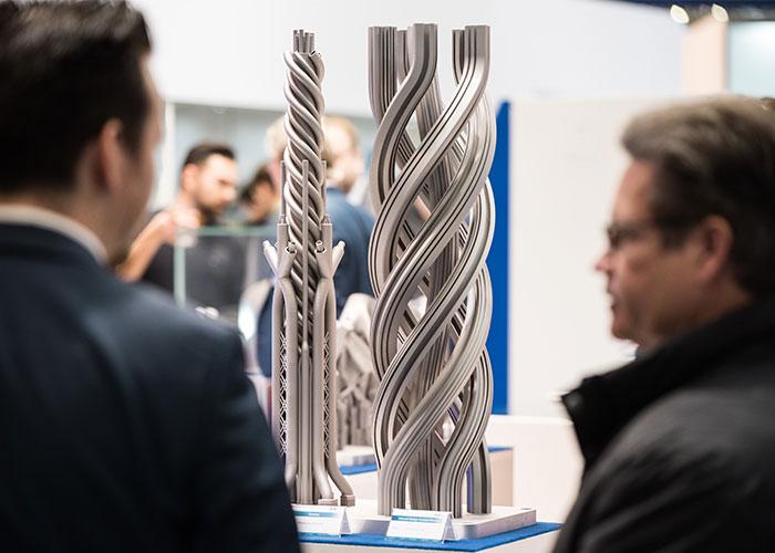 Meer dan 450 exposanten presenteren dit jaar hun innovaties op het gebied van 3D-printen op Formnext. (foto: Mesago Messe Frankfurt / Mathias Kutt)